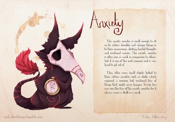 the Anxiety monster (by Tony Allen)