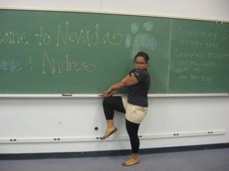 Me, leading New Student Orientation back in 2008