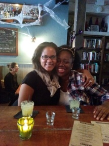 Halloween cocktails with my dear friend, Saffeya, at Hollow Nickel in Brooklyn